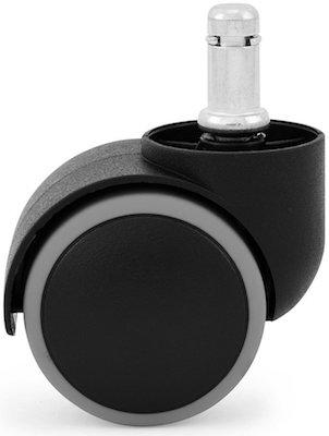KATU BG503-38 Office Chair Caster Wheels Rubber PU 2 Modern Design Ideal for Hardwood Floors