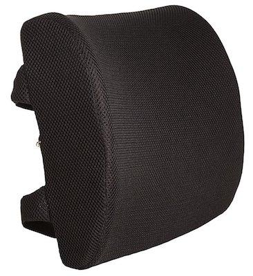 Everlasting Comfort 100% Pure Memory Foam Back Cushion Orthopedic Design for Back Pain Relief