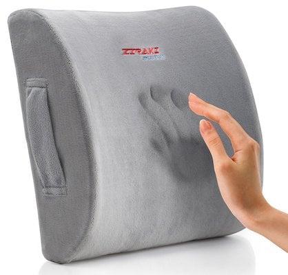 Ziraki Memory Foam Lumbar Cushion Premium Lumbar Lower Back Pain Lumbar Pillow