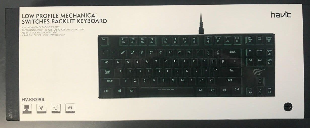 Havit Hv Kb390l Low Profile Mechanical Backlit Keyboard