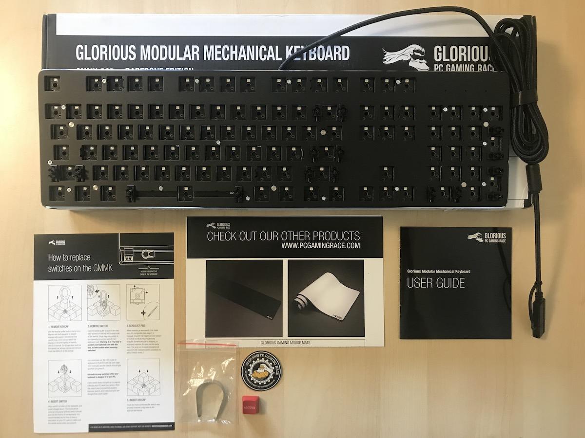 Glorious PC Gaming Race Modular Gaming Mechanical Keyboard Model GMMK-RGB Review 2