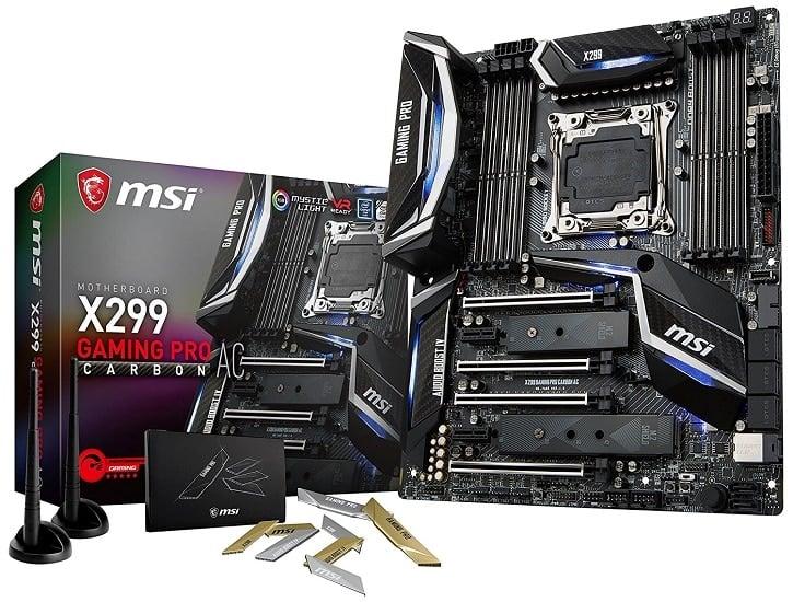 MSI Performance Gaming Intel X299 LGA 2066 Motherboard