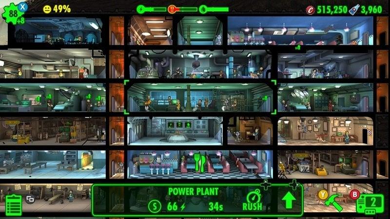 Fallout Shelter Gameplay Screenshot