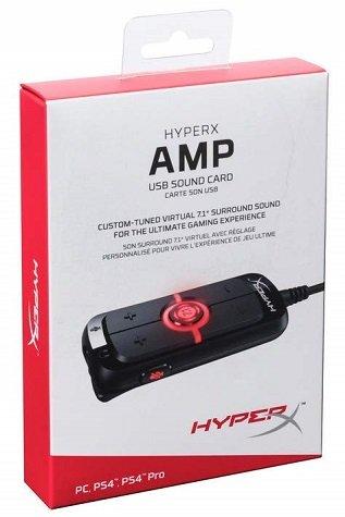 HyperX Amp USB Sound Card - Virtual 7.1 Surround Sound