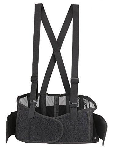 Trademark Back Brace Lumbar Support with Adjustable Suspenders
