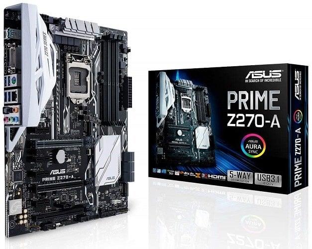 ASUS PRIME Z270-A LGA1151 DDR4 DP HDMI DVI M.2 USB 3.1 Z270 ATX Motherboard-min
