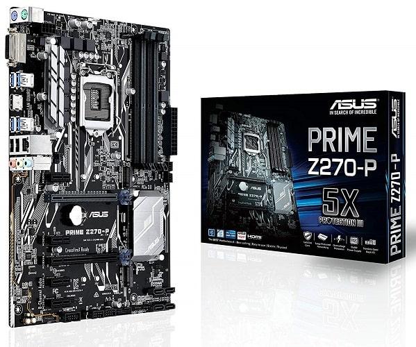 ASUS PRIME Z270-P LGA1151 DDR4 HDMI DVI M.2 USB 3.0 Z270 ATX Motherboard-min