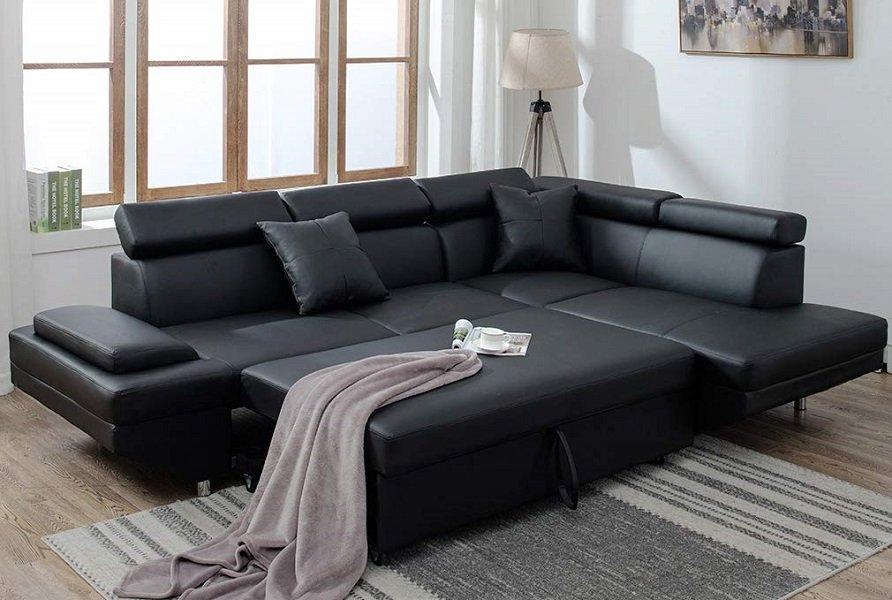 BestMassage Corner Sofas Sets for Living Room, Leather ...