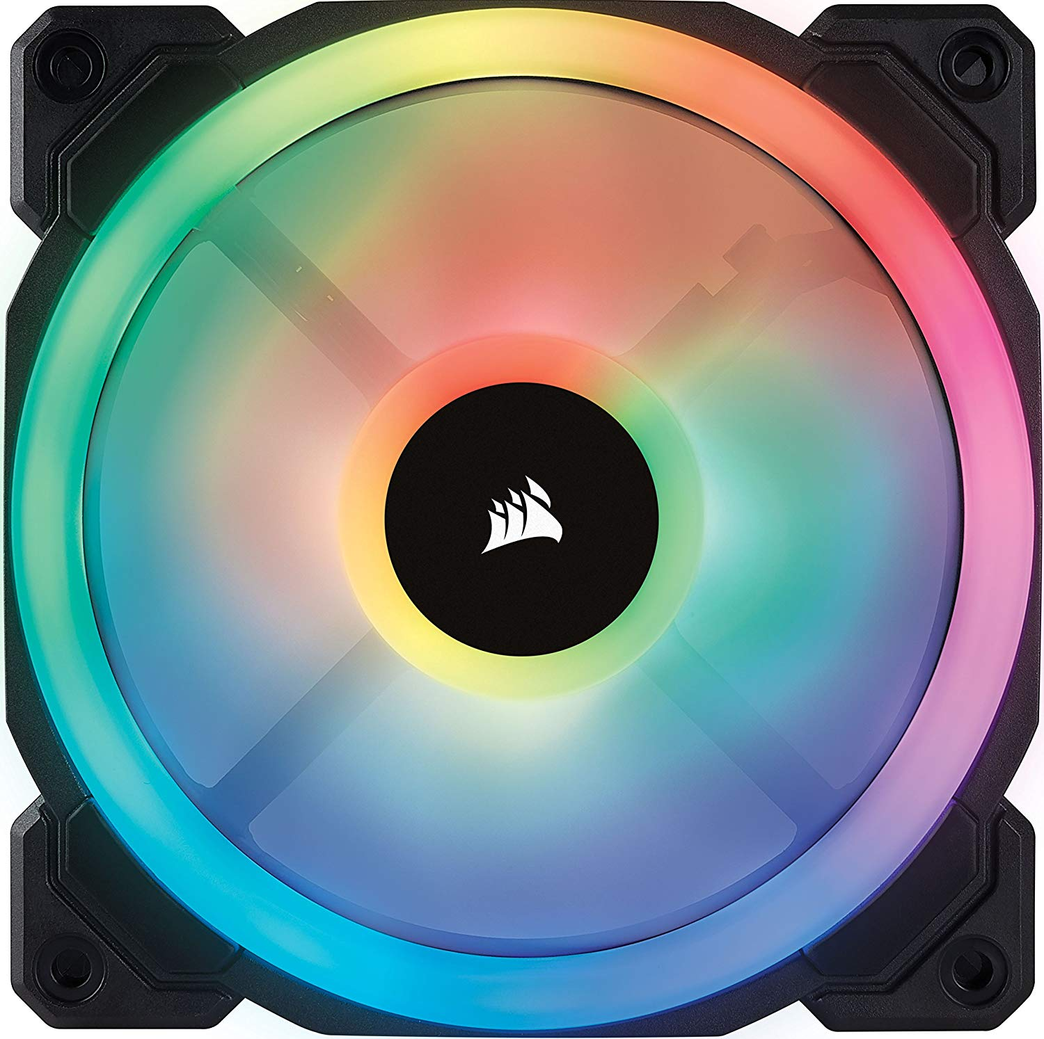 Corsair LL Series LL120 RGB 120mm Dual Light Loop RGB LED PWM Fan 3 Fan Pack with Lighting Node Pro-min