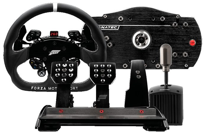 Fanatec Forza Motorsport Racing Wheel and Pedals Bundle for Xbox One and PC-min