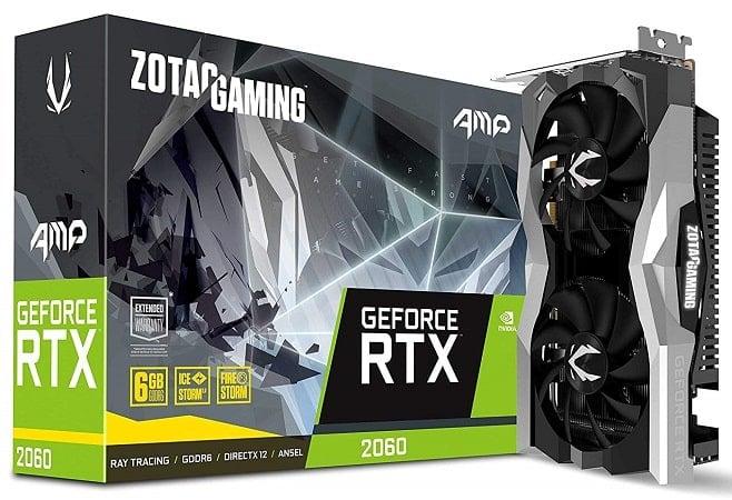 ZOTAC Gaming GeForce RTX 2060 AMP 6GB GDDR6 192-bit Gaming Graphics Card-min