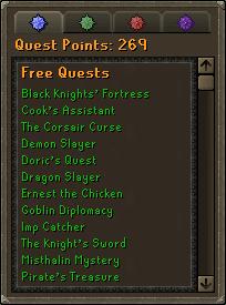 Runescape Quest Log
