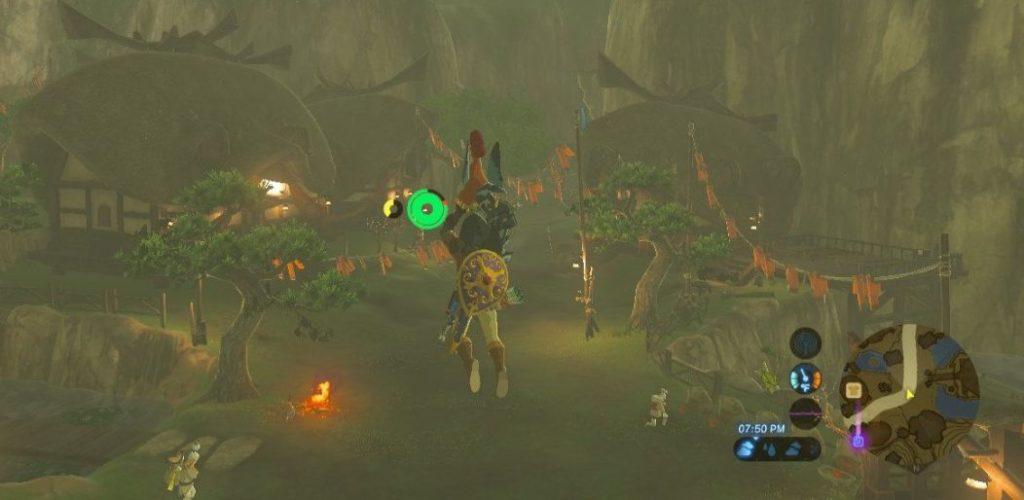 Zelda Flying with Chicken