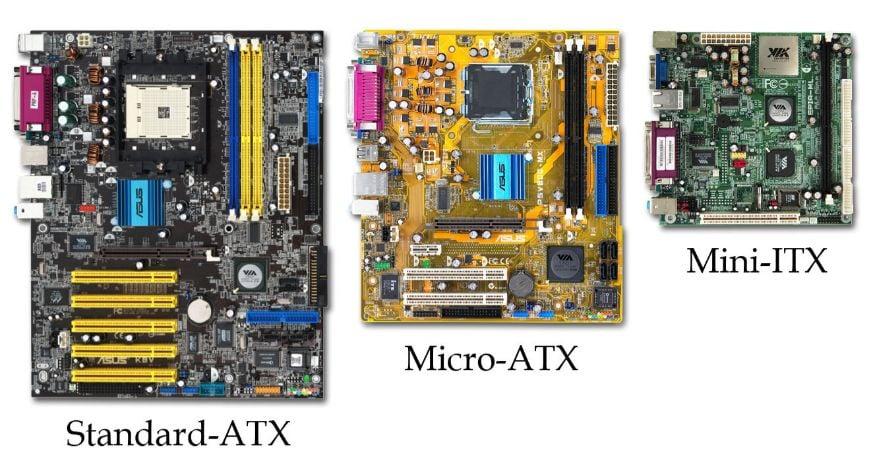 ATX vs MicroATX vs Mini-ITX Motherboards