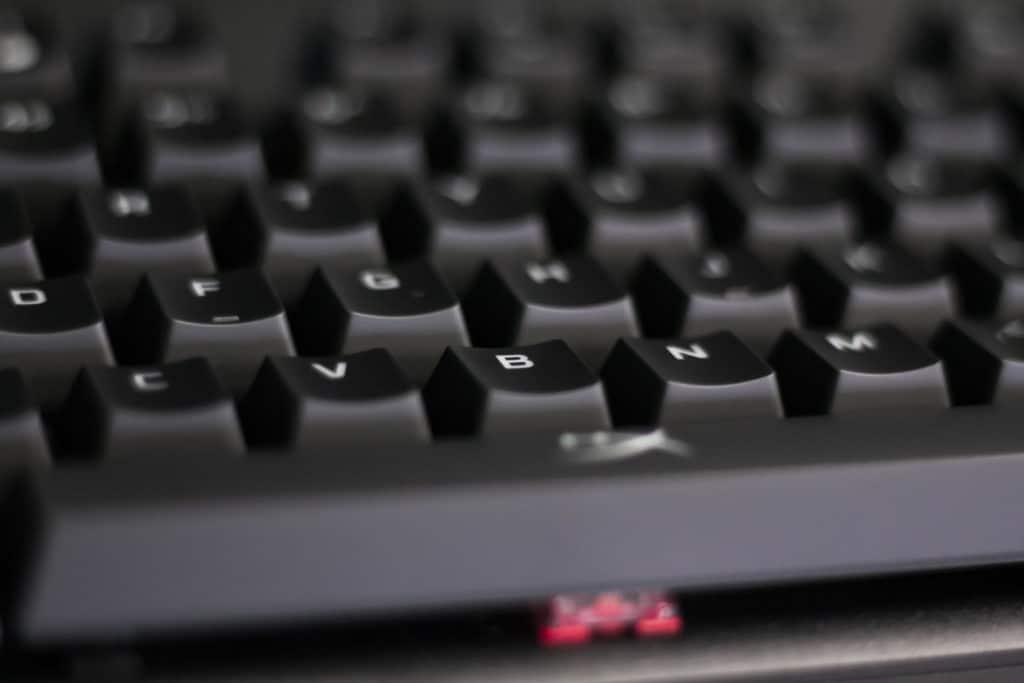 HyperX Alloy Origins Keyboard Closeup
