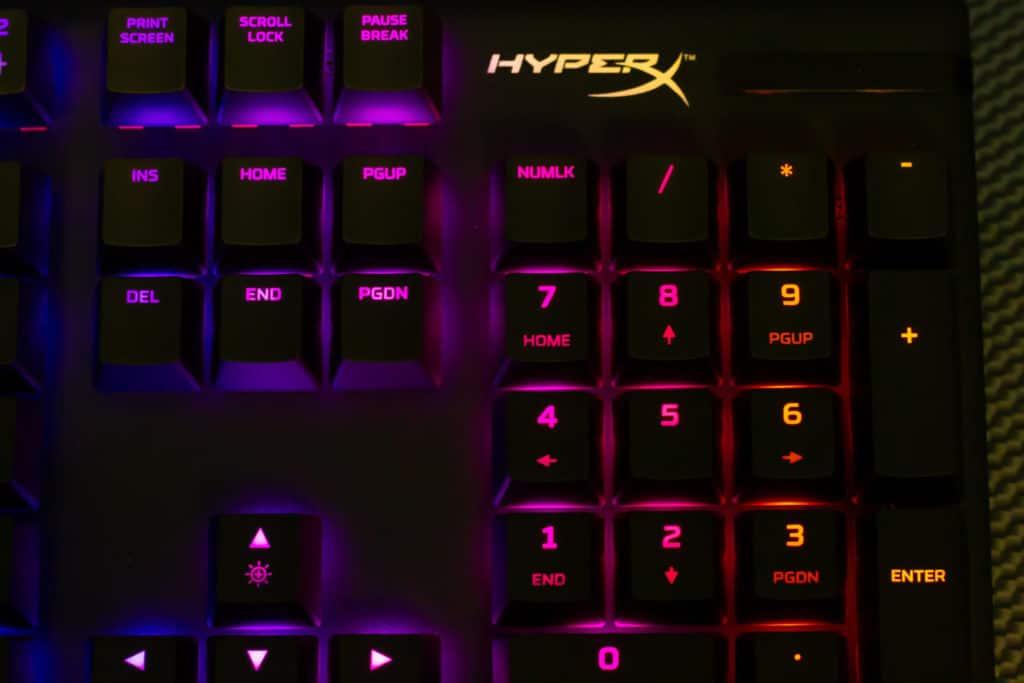 HyperX Logo on Alloy Origins Keyboard RGB