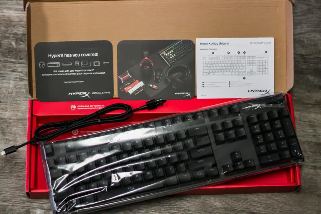 HyperX Alloy Origins Keyboard Unboxing