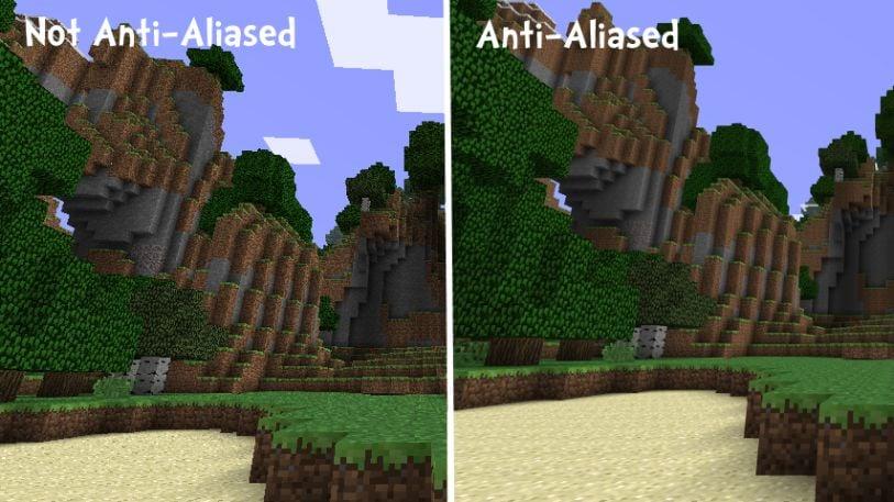 Minecraft Anti Aliasing