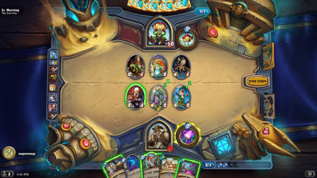 Hearthstone screenshot, a game made with the Unity game engine