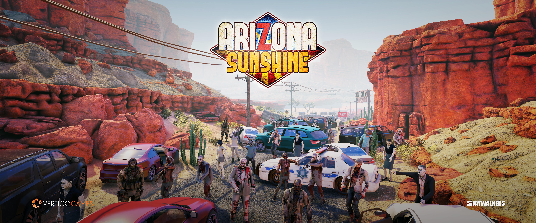 Zombies on a street in Arizona Sunshine