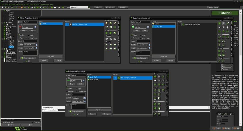 Image of GameMaker Studio 2 in action