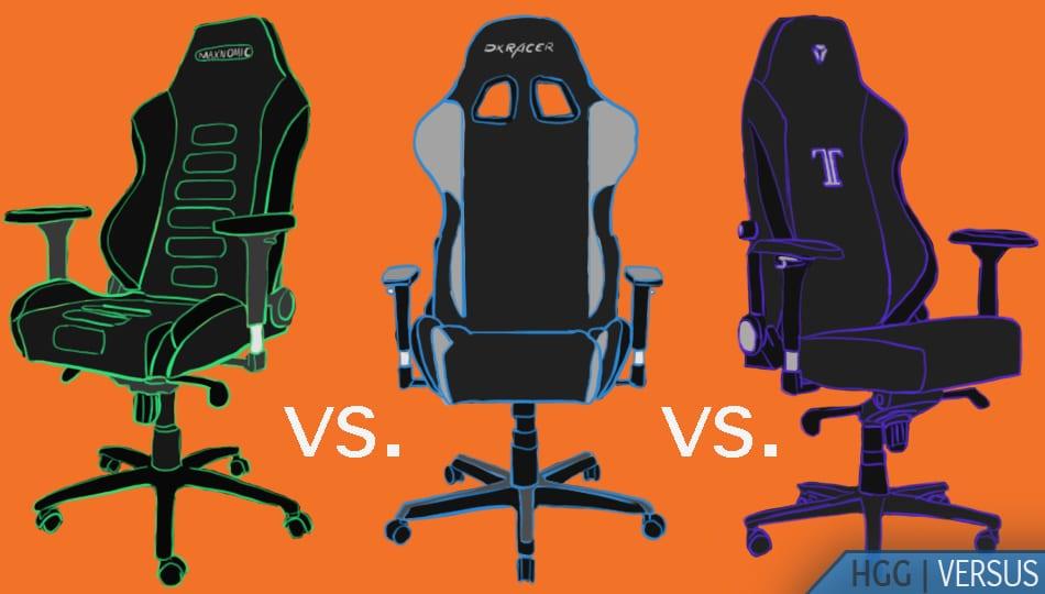 Maxnomic vs. Secretlab vs. DXRacer Gaming Chairs