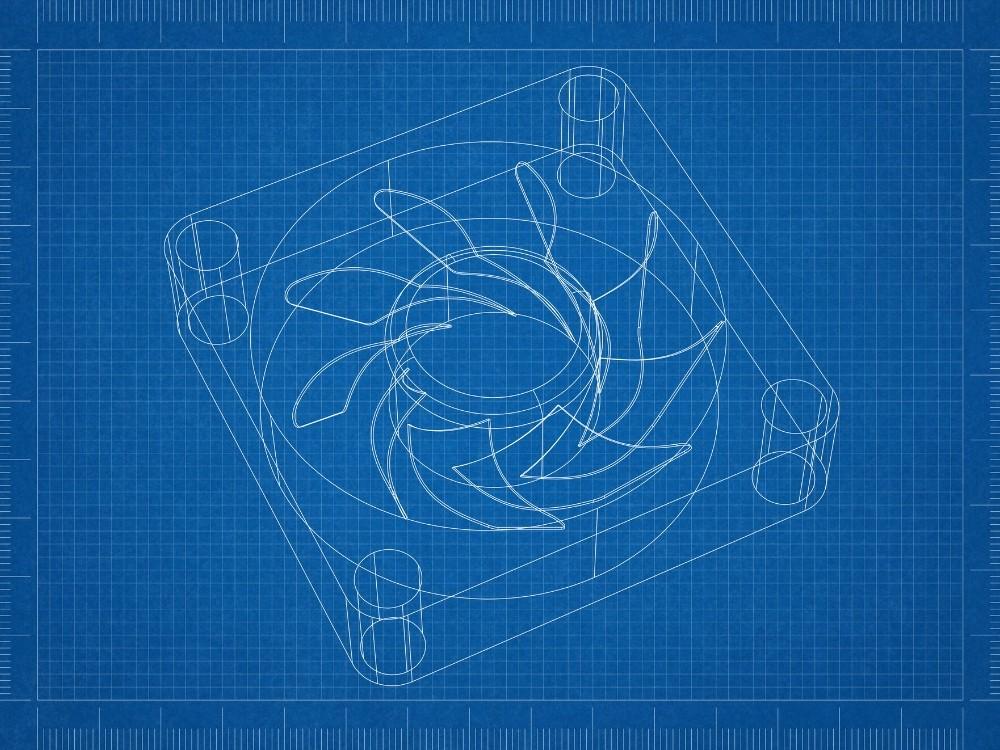 Low Profile CPU Cooler Blueprint