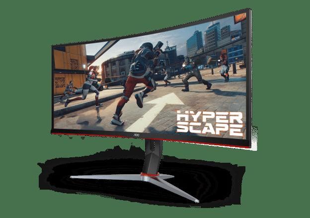 AOC CU34G2X featuring Hyper Scape