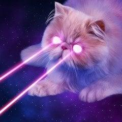 Alien Laser Cat Dynamic Theme