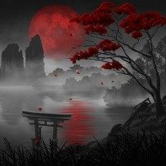 Blood Sakura Lake HiQ Dynamic Theme