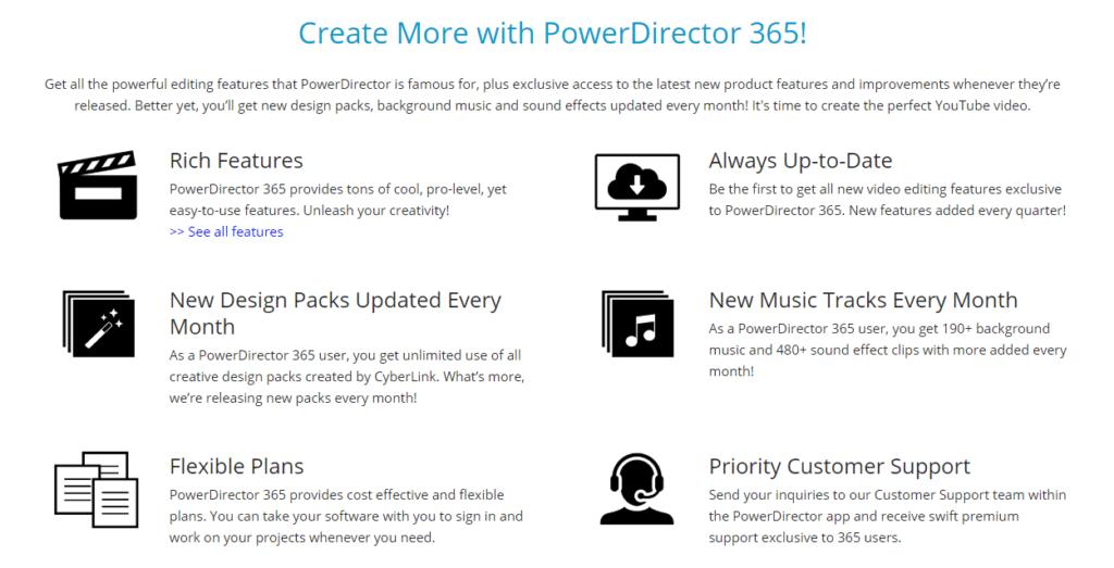 Create with PowerDirector