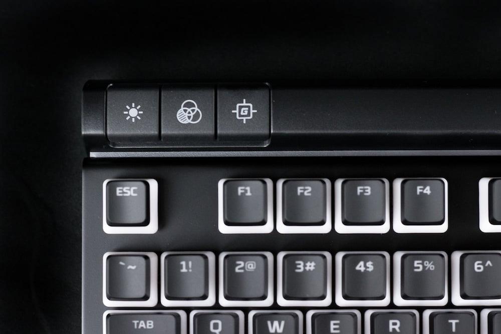HGG HyperX Alloy Elite Quick Keys Closeup