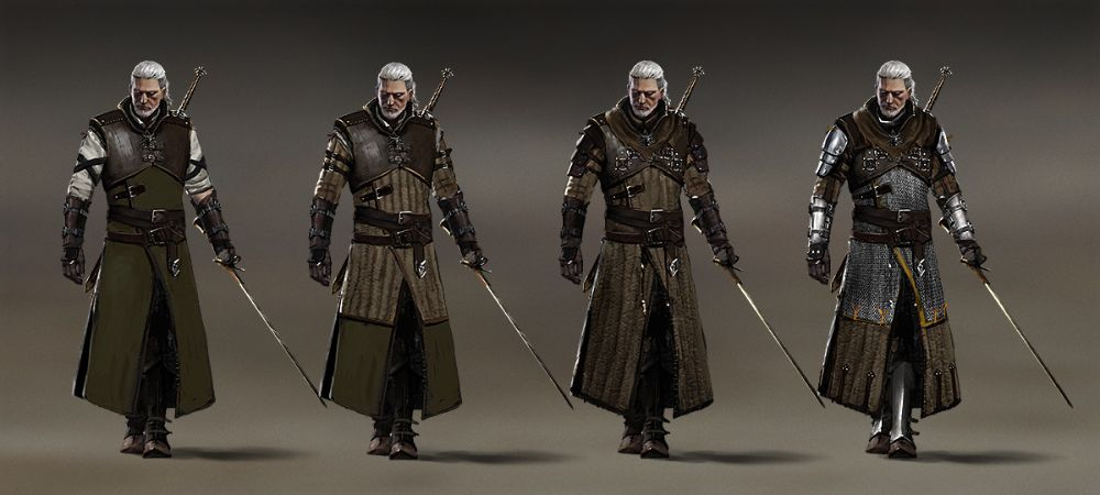 Witcher 3 Armor Concept ARt