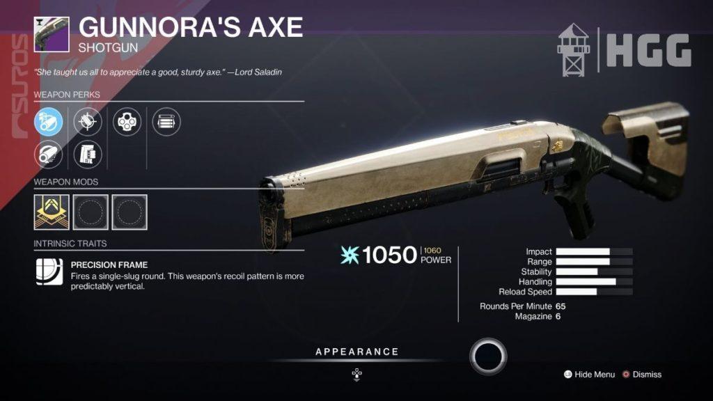 Gunnora's Axe Shotgun