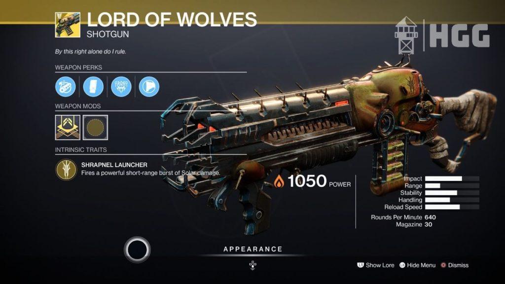 Lord of Wolves Shotgun