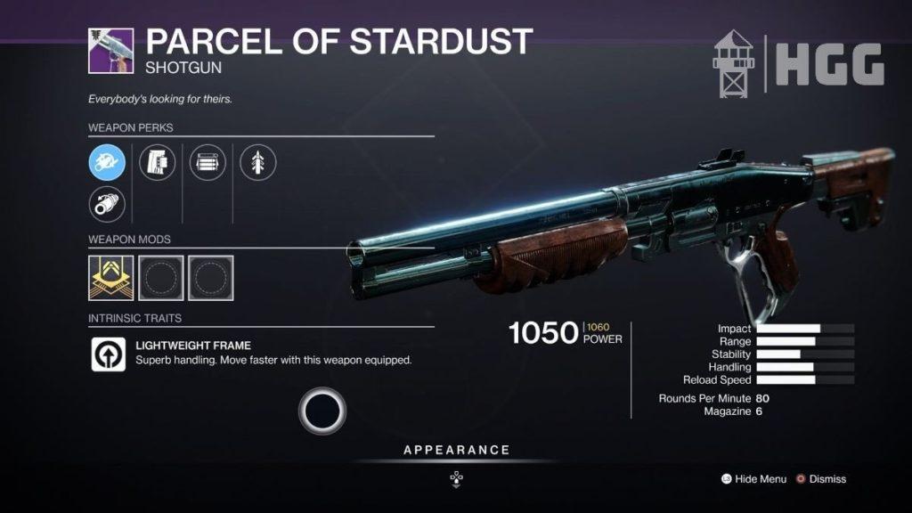 Parcel of Stardust Shotgun