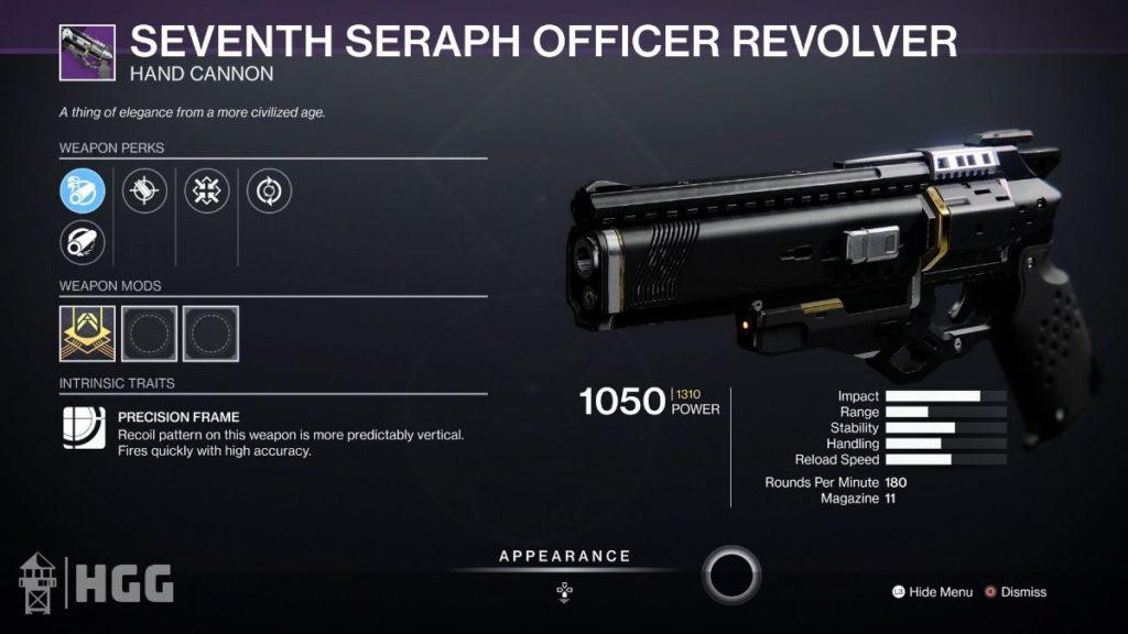 Seventh Seraph Officer Revolver