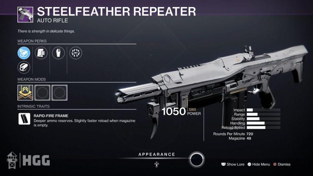 Steelfeather Repeater
