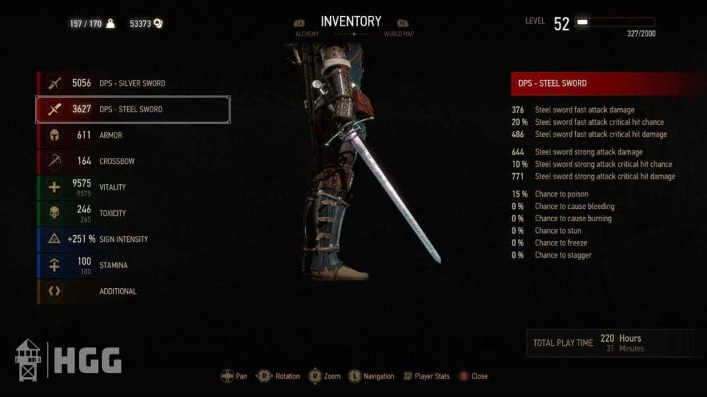 Witcher 3 Steel Swords 5