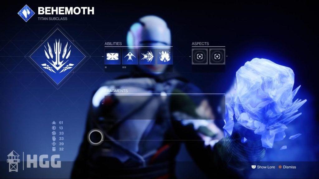 Behemoth — Stasis Subclass