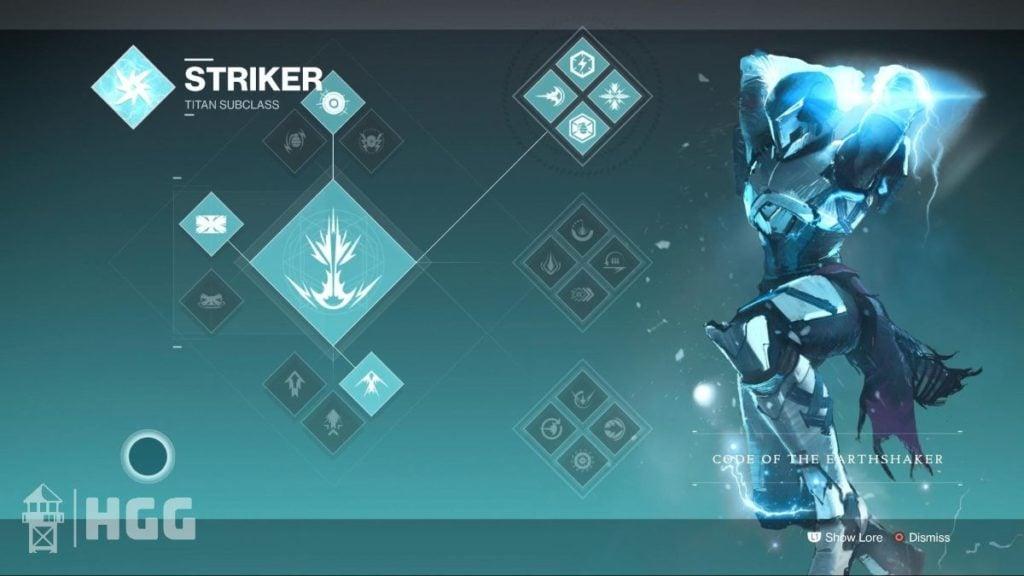 Code of the Earthshaker — Striker Subclass