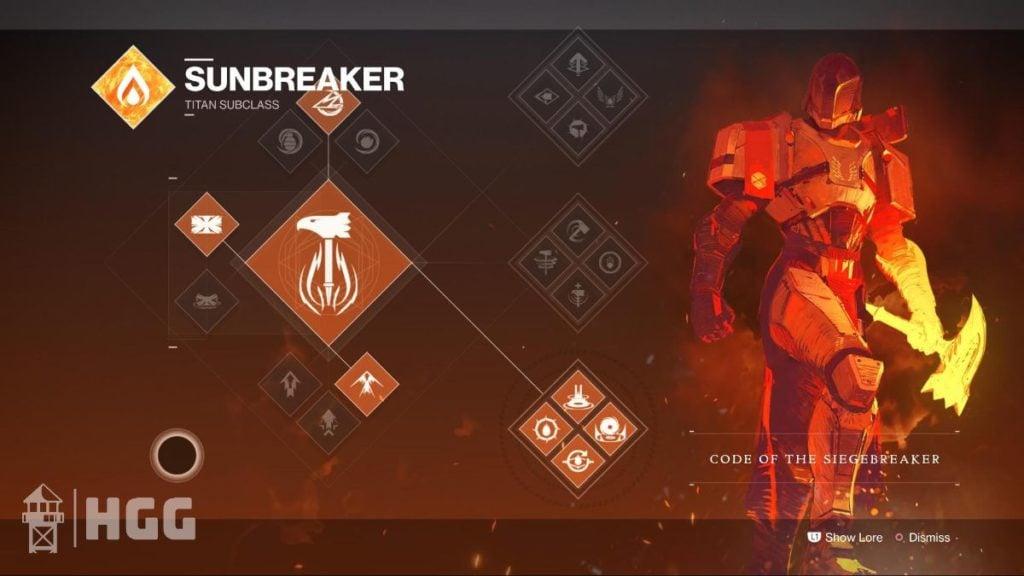 Code of the Siegebreaker — Sunbreaker Subclass
