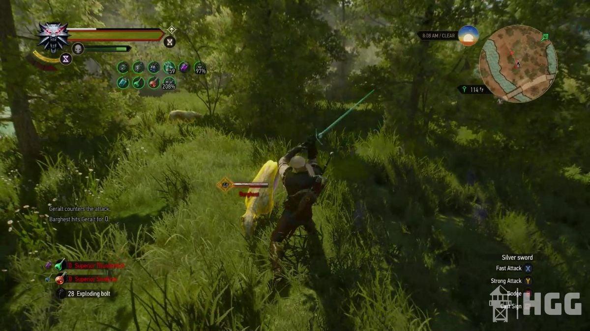 Geralt Battles with Manticore Armor