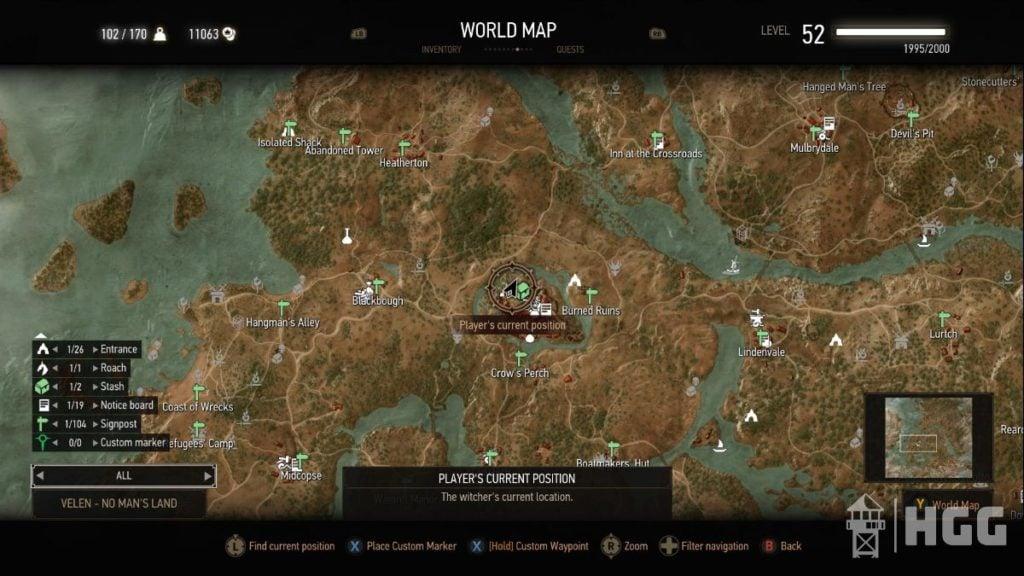 Silver Sword Diagram Map