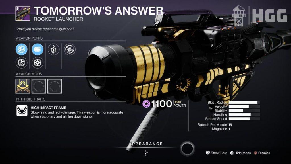 Tomorrow's Answer