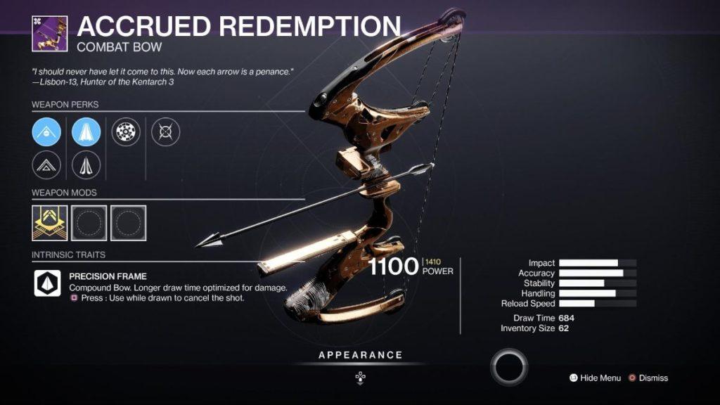 Accrued Redemption