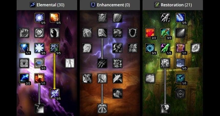 Elemental Shaman Class