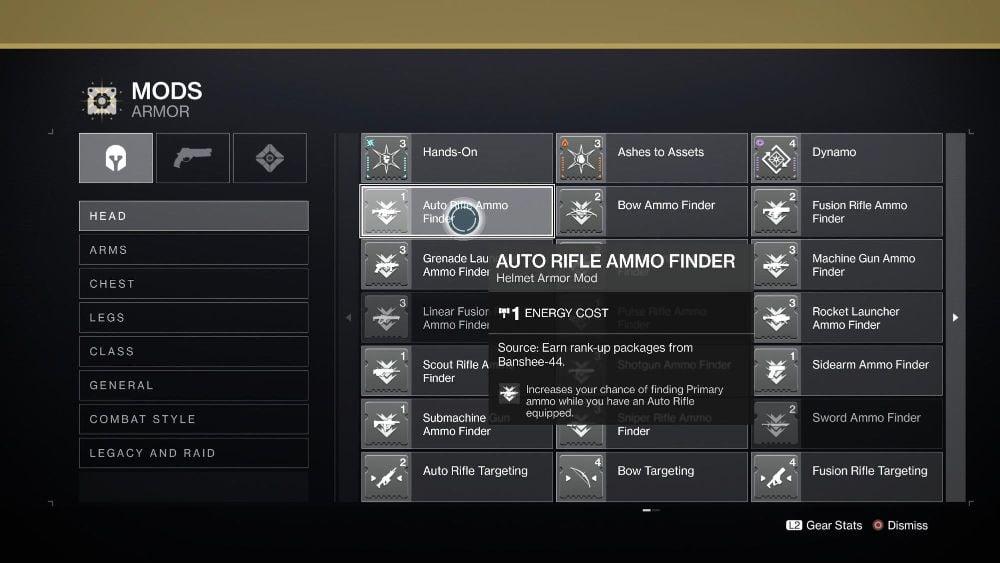 Ammo Finder Mods
