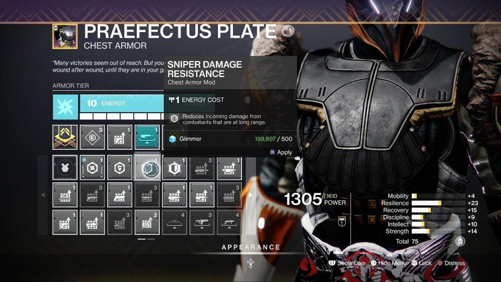 Damage Resistance Mods
