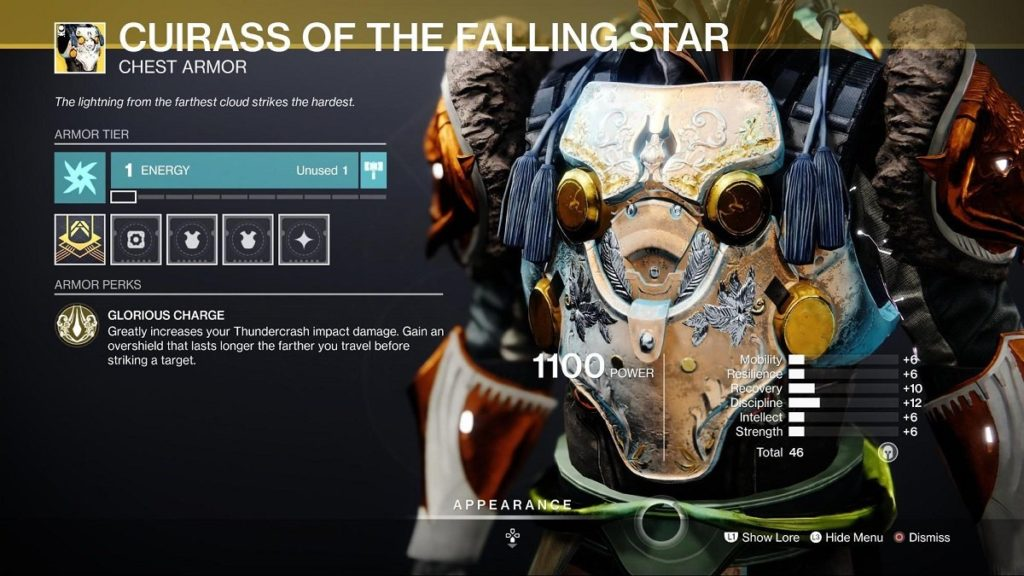 HGG Cuirass of the Falling Star Titan Build